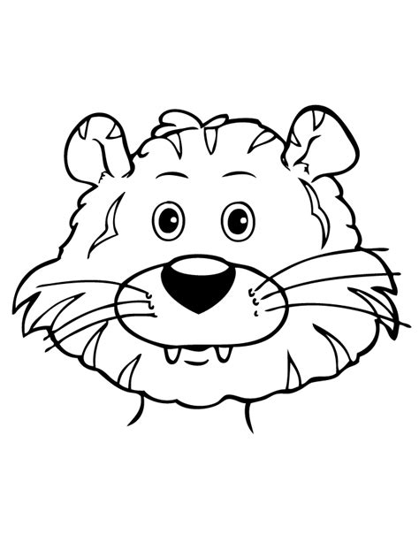 cartoon tiger coloring page free coloring pages of cute tiger cub