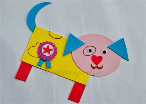 shapes crafts for mommiepedia dogie with simple shapes