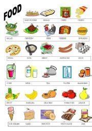 guess my word 35 food items worksheet free teaching worksheets food