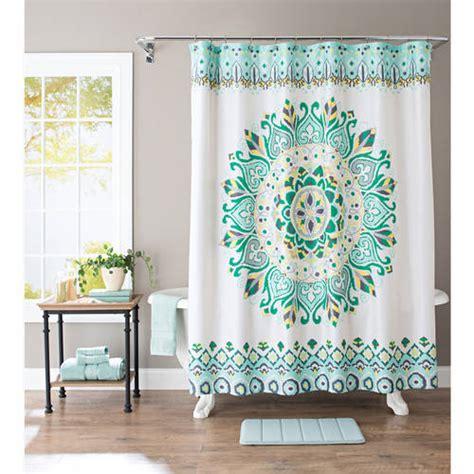 West Elm Medallion Shower Curtain Decor Better Homes And Gardens Medallion Fabric Shower Curtain Walmart
