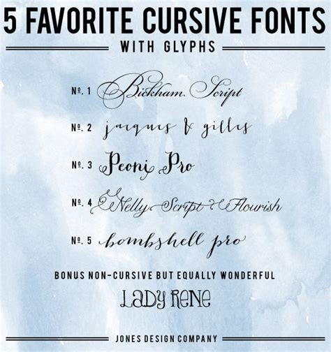 5 Favorite Cursive Fonts With Glyphs And How To Use Them Best Fonts Cursive