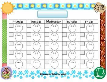 smiley behavior chart template letter d behavior charts and smiley faces on