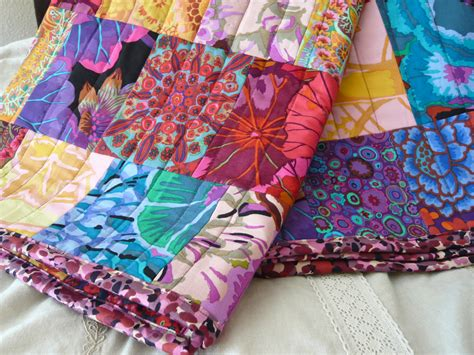 Colorful Patchwork Quilt - pomp patchwork quilt colorful bohemian inspired quilt