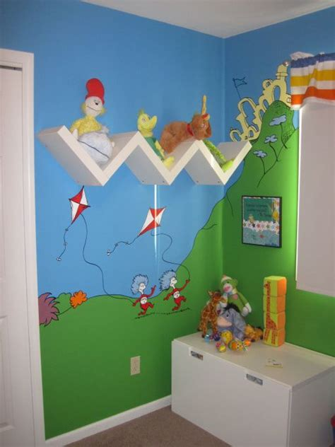 dr seuss bedroom cute shelving idea and in a seuss room to be a second