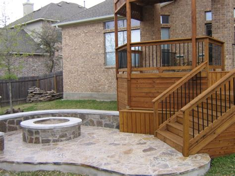 Deck To Patio Designs Decks And Patios This Small Wooden Deck Leads To A S