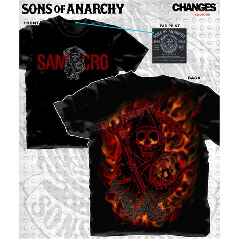 sons of anarchy l sons of anarchy reaper logo flames t shirt 28 631 212 l