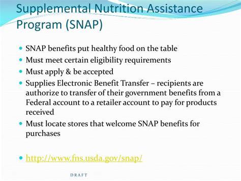 supplemental nutrition assistance program ppt other financial assistance options for pursuing post