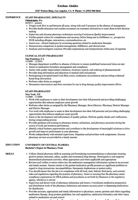 pharmacist resume sample writing tips resume genius