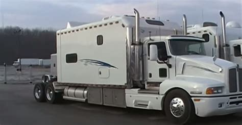 take a look inside a 2 bedroom custom semi truck sleeper