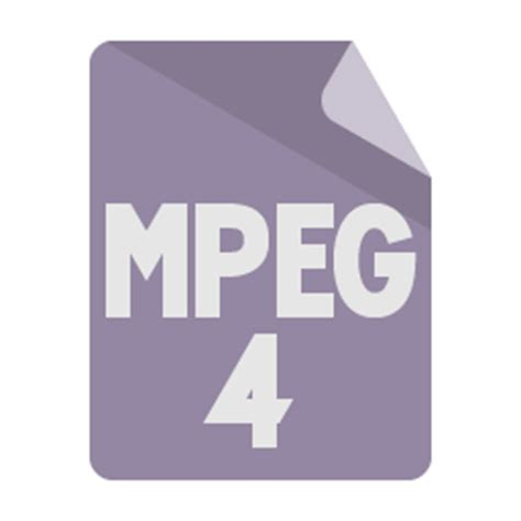 format file video mpeg file format mpeg4 icon