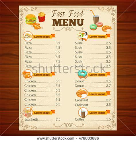 fast food menu card templates menu card design stock images royalty free images