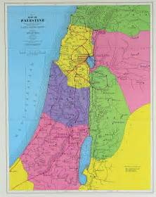 detailed palestine new testament map detailed new