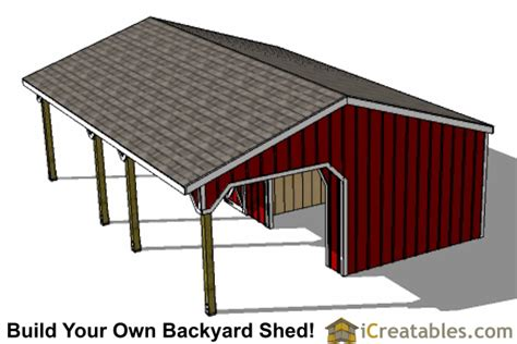 Tack Shed Plans by Run In Shed With Tack Room And Breezeway