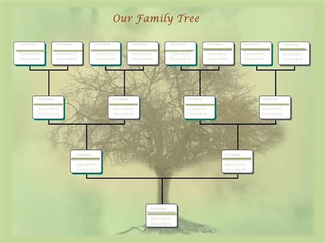 Editable Family Tree Make My Family Tree Template Com Family Trees Pinterest Family Family Tree Chart Template Powerpoint