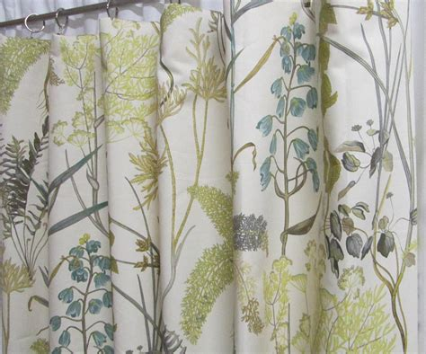 botanical print curtains neutral window curtains botanical inspired drapery panels