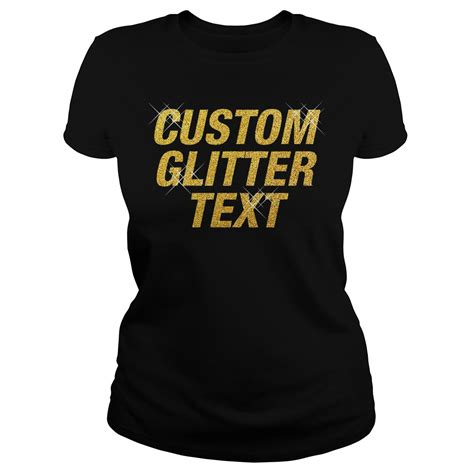 design t shirts with glitter letters custom glitter text shirt hoodie sweater and long sleeve
