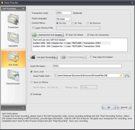 tutorial sap gui step by step tutorials gt tutorials gt gui scripting