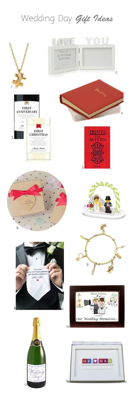 Wedding Gift Ideas Groom To by Wedding Day Gift Ideas For Brides Grooms