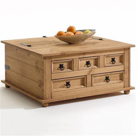 table basse coffre pin massif finition cir 233 e achat