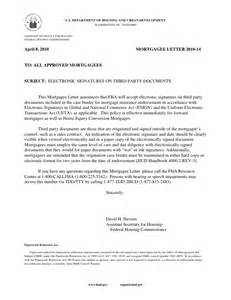 electronic signature letter from hud
