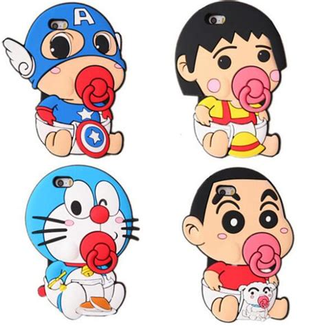 Iphone 6 6s 3d Doraemon 1 Soft Silicon Back Co Limited 2017 new 3d japan doraemon crayon shin chan soft silicone for iphone 5