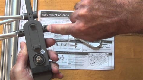 ge  attic mount antenna unboxing  assembly youtube