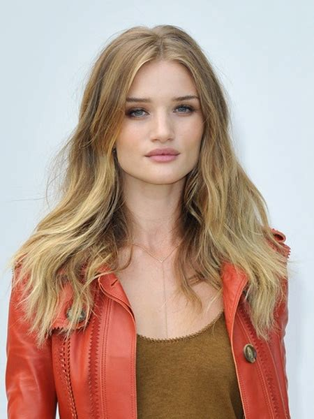 rosie huntington side parted lob perfect side parted long hairstyle rosie huntington 2016