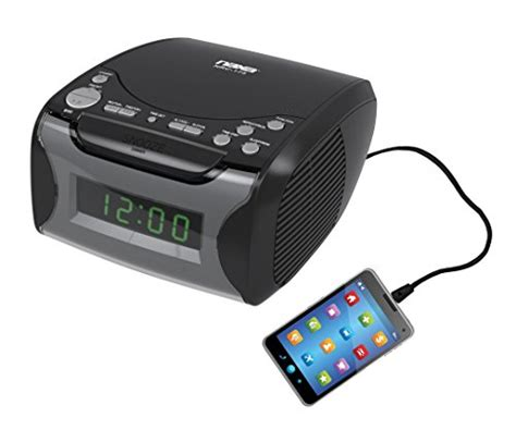 naxa electronics digital alarm clock with am fm radio cd player black new 840005005309 ebay