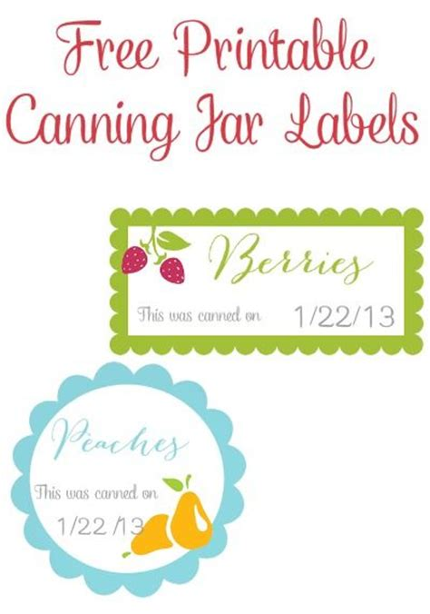 free printable custom jar labels 33 best canning labels and canning label templates images
