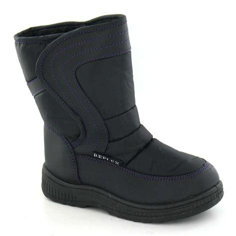 fleece lined boots reflex childrens fleece lined snow boots ebay