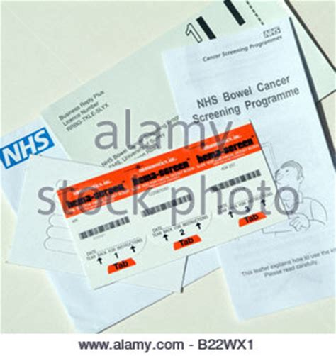 Bloody Stools Nhs by Slide Test For Faecal Occult Blood Mass Screening For