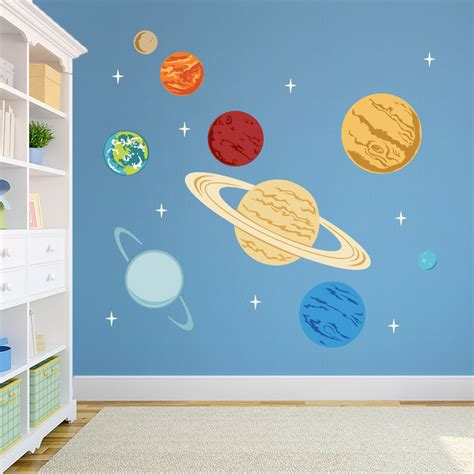 planet stickers for walls planets printed wall decal space decal solar system decal