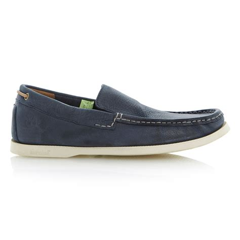 timberland loafers timberland loafer shoes in blue for lyst