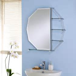 octagon bathroom mirror with shelves
