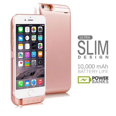 Bumper Powercase Iphone 7 Power iphone 6s gold 10000mah powerbank rechargeable