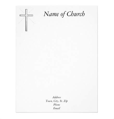church letterhead templates  word psd ai