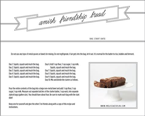 printable directions for amish friendship bread amish friendship bread recipes dishmaps