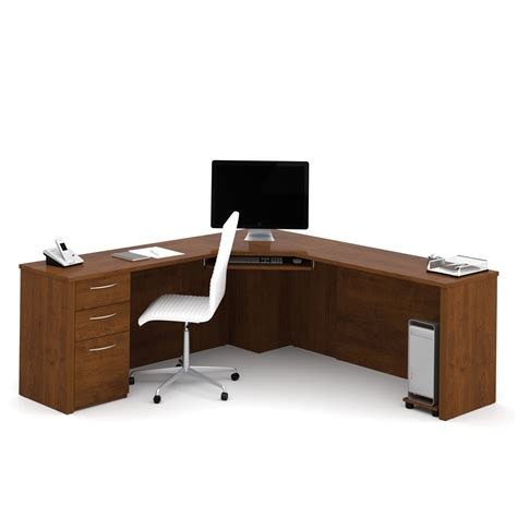 chocolate brown computer desk embassy corner desk in tuscany brown