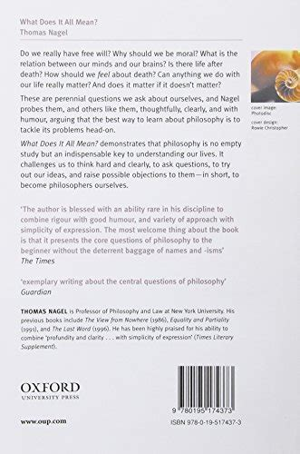 what does it all 0195174372 libro what does it all mean a very short introduction to