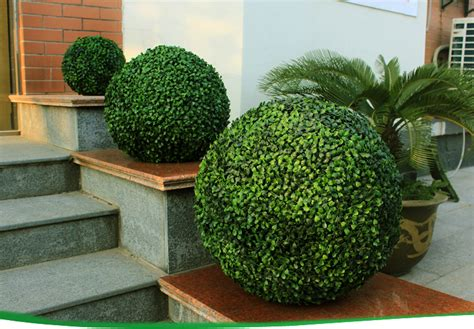 artificial boxwood ball hedge decorative vertical garden