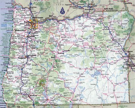 large detailed roads  highways map  oregon state