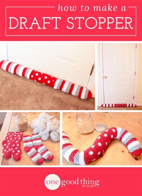 how to make a draft stopper out of socks