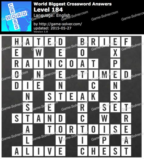 usa today crossword solution july 17 worlds biggest crossword level 184 game solver