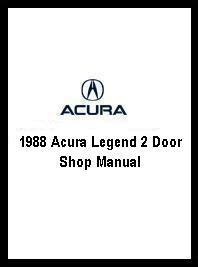 book repair manual 1988 acura legend auto manual 1988 acura legend 2 door shop manual