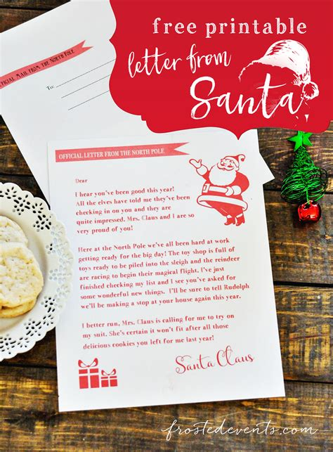 free editable printable letter from santa letter from santa free printable