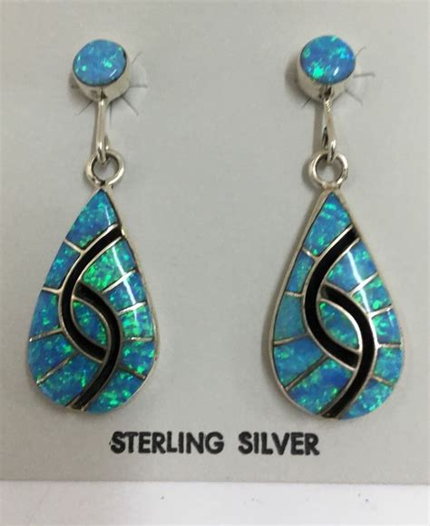 how to make inlay jewelry american sterling silver zuni blue opal inlay