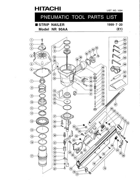 hitachi nail gun parts diagram hitachi nr83a diagram hitachi nr83a2 diagram elsavadorla
