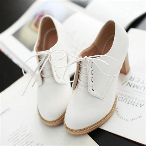 Cutie Bootie Shoes White japanese sweet lace high heels 183 kawaii
