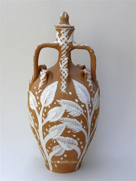 Ancient Vase Wedding Pitcher From Lesvos Island In The Aegean Sea