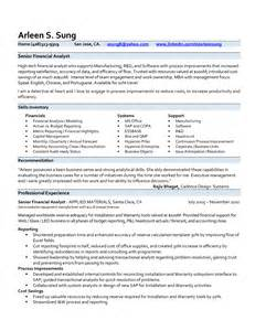 Sle Resume Of A Financial Analyst by Key Skills For Business Analyst Resume